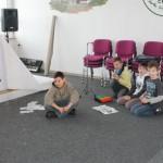 Auch den Jungen bereiteten die Aufgaben viel Spaß.